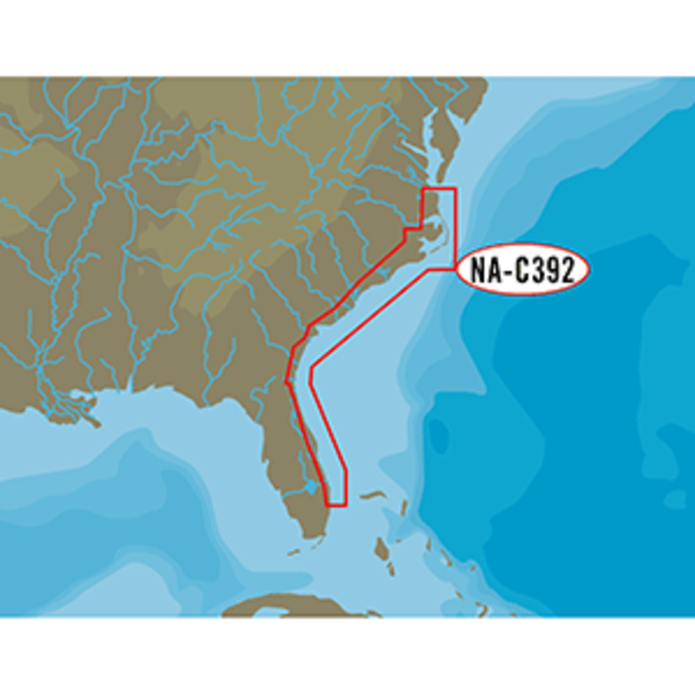 Primary image for C-MAP NT+ NA-C392 - ICW: Norfolk to West Palm - FP-Card Format