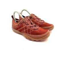 Merrell Suede Walking Sneakers Size 7 In Good Pre Owned Condition - $38.00