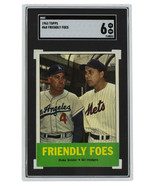 Friendly Foes Snider+Hodges 1963 Topps #68 Slabbed Baseball Card SGC 6 E... - $146.46