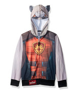 NEW Guardians of the Galaxy Rocket Racoon Hoodie Hooded Sweater Jacket C... - $10.19
