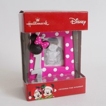 Disney 2017 Hallmark Christmas Ornament Minnie Mouse Pink Picture Frame - $19.79