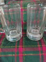 Vintage Libby Paneled Glass Beer Mugs Set of 2 12oz - £10.18 GBP