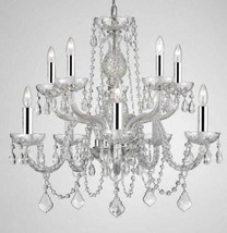 Chandelier Made with Swarovski Crystal! Chandelier Lighting Dressed with Chrome  - $232.02