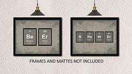 BEER BREWER Periodic Table of Elements Decor Prints - Set of 2 8 x 10 Un... - $14.82