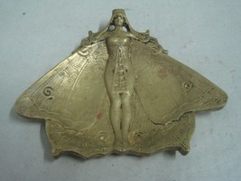 Antique Dresser Ring Jewellery Holder art nouveau a lady with butterfly ... - $45.24