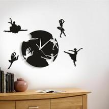 Ballet Dancing Wall Clock Dancing Girls Ballerinas Reloj De Pared De Bai... - $43.29