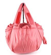 Auth See By Chloe Peach Nylon Shoulder Hand Bag Handbag Purse Good Condi... - $98.01