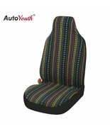 AutoYouth® Universal Stripe Colorful Front Seat Cover Saddle Blanket Baj... - $21.10
