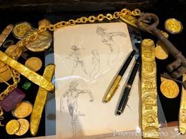 (4 Figures) Frank Frazetta Original Sketch Book page Art 1950 Comic Book... - $1,850.00