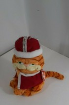 """2006 TY Beanie Babies 7"""" Garfield His Majesty Tail of Two Kitties King Crown  - $9.90"""