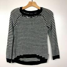 Sugar Rush Sweater M Girl Striped Knit Jewel Embellished Neckline Medium... - $19.24