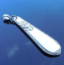International Adoration 1930 Necklace Pendant Silverplate - $35.63