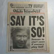 New York Post April 1 1995 Yankees Baseball Gene Michael Drunk Driving 9X - $39.99