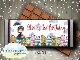 Mary Poppins Chocolate Bar Wrapper for a Birthday Party, Birthday Party ... - $5.95