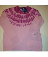 New Champion Women's Crew Neck Sweatshirt Fuchsia Purple Tie Dye Size L - $45.53