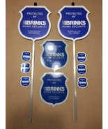 2 REFLECTIVE BRINKS Security Yard Signs + 6 Door/Window 2-sided Decals *... - $44.99