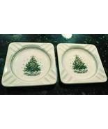 """2 Salem China Christmas Eve Ceramic Ashtrays Viktor Schreckengost 5.25""""x... - $28.77"""