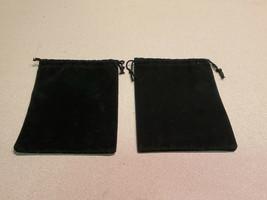 "Set of 2 Velvet 5 1/2"" x 4"" Black Drawstring Jewelry Pouch - $3.91"