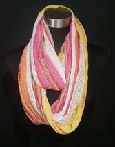 Collection Eighteen Infinity Scarf Multi Color Red Yellow Orange White - €7,27 EUR