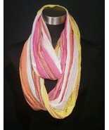 Collection Eighteen Infinity Scarf Multi Color Red Yellow Orange White - $7.91