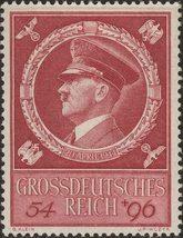 1944 Adolf Hitler Birthday Germany Postage Stamp Catalog Number B271 MNH