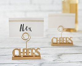 48 Cheers to You Gold Place Card Holders - $101.75