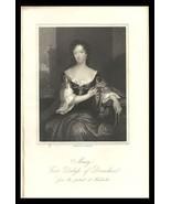 Mary Duchess of Devonshire 1851 Antique Art Print Charles II Court Beaut... - $24.99
