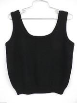 St John Basics Knit Black Shell Tank Top  S Petite 100% Summer Wool Slee... - $79.00