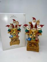 2009 Hallmark Santa's Jolly Workshop Toys Elves Magic Xmas Keepsake Orna... - $69.29