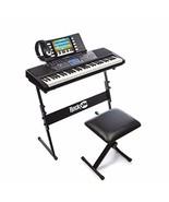 RockJam 61-Key Electronic Keyboard Piano SuperKit with Stand, Stool, Hea... - $178.20