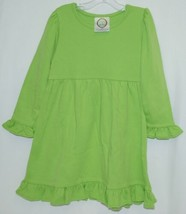 Blanks Boutique Long Sleeved Color Lime Green Ruffle Dress Size 3T image 1