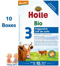Holle Stage 3 Organic Baby Formula With DHA 10 Boxes 600g Free Shipping - $258.95