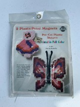 NMI  Needlepoint Magnet Doll & Butterfly Plasticpoint Unused Kit - $9.00