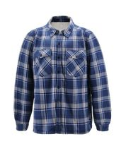 Men's Casual Flannel Button Up Plaid Fleece Warm Sherpa Lined Lightweight Jacket image 6