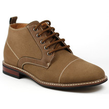 Ferro Aldo Men's Brown Cap Toe Canvas Lace Up Dress Ankle Boot MFA-506013A - €23,04 EUR