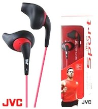 JVC HA-EN10B In Ear Sports Headphones- Black/Red Sweat Resistant - $11.18