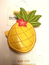 Gymboree Aloha Sunshine Cutie Barrette Clip Snap NWT Girl Pineapple Yellow Green - $11.95