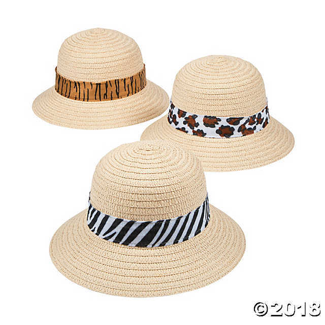 Primary image for Kids' Pith Helmets with Animal Print Band