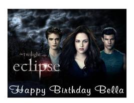 Twilight Eclipse party decoration edible cake image frosting sheet - $8.98