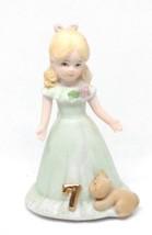 Vintage 1981 Enesco Growing Up Birthday Girl Figurine #7 Blonde - $14.80