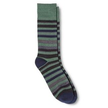 Dress Socks 6 12 Merona Green Blue Gray Stripes NEW Mens - $12.00