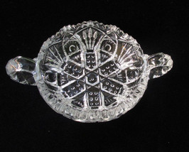 Vintage Imperial Glass Nappy Dish Mints Nuts Candy Bowl w/ Handles Saw Tooth - $11.87