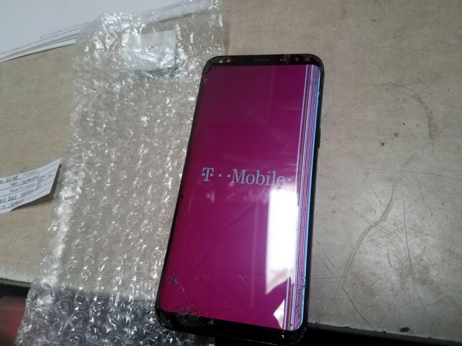 Samsung Galaxy S8  SM-G955U - 64GB - Midnight Black (T-Mobile) as is #129