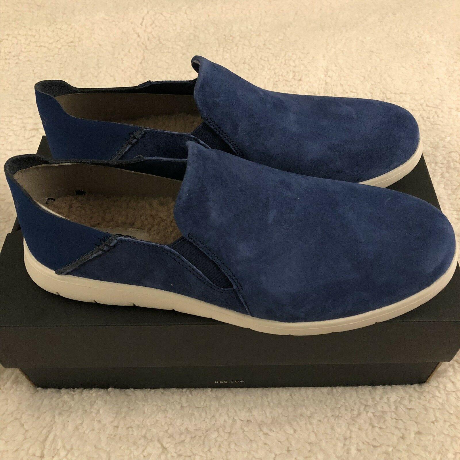 NEW UGG Men's Knox Suede Slip On Sneaker, Sizes 9, 11  Blue, MSRP $100 image 9