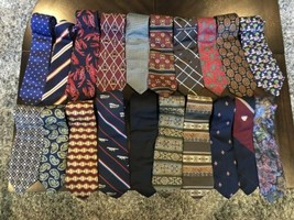 Tommy Hilfiger,Van Heusen and more lot of 18 Assorted Silk Neckties Multi-Color  image 2