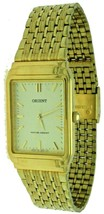 New ORIENT Quartz S/Steel Gold Color Band, Case & Dial Watch Water Resis... - $56.09