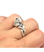 Mother Wolf and Child Cub Ring - $92.00