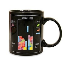 Tetris Color Changing Heat Sensitive Porcelain Tea Coffee Milk Morphing Mug - $12.47