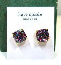 Kate Spade New York Small Square Glitter Stud Earrings  - £16.63 GBP