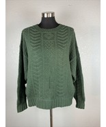 Vintage American Eagle Womens Sweater L Large Green 100% Cotton - $98.99